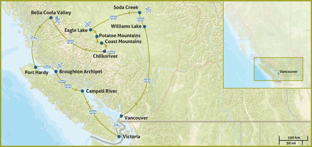 British Columbia Karte