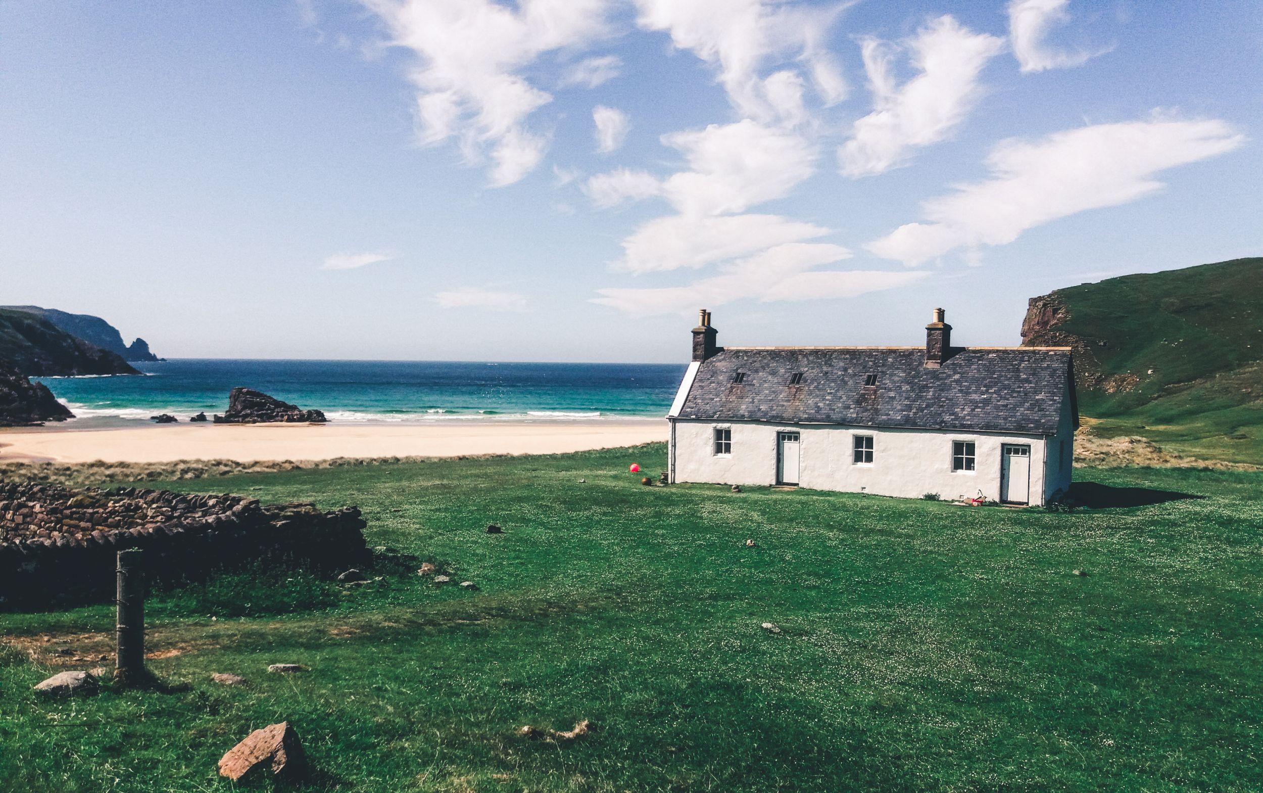 Schottland Küste Farmhaus